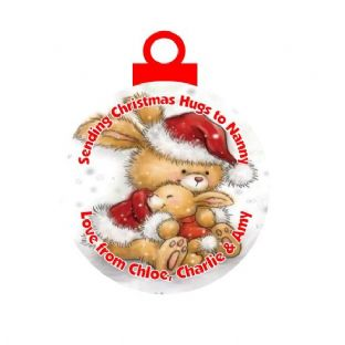 Christmas Hug Acrylic Christmas Ornament Decoration Rabbits